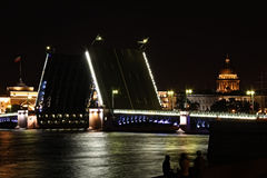 La Russie : St Petersburg par Night Photos libres de droits