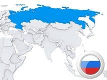 La Russie sur la carte de l'Asie illustration de vecteur