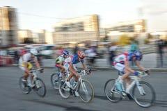 La Russie, ville de Magnitogorsk, - septembre, 22, 2015 Cyclistes du images libres de droits