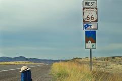 La ruta 66, Arozona, los E.E.U.U. fotografía de archivo libre de regalías