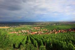 La ruta del vino de Alsacia Imagenes de archivo