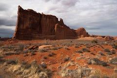 La ruta escénica arquea el parque nacional Estados Unidos Utah nosotros fotografía de archivo libre de regalías