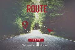La ruta navega concepto del transporte del planeamiento de la ubicación Imagenes de archivo