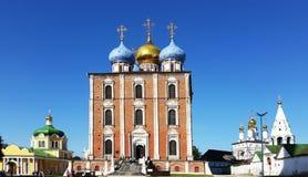 La Ryazan el Kremlin, la catedral de Cristo, la catedral de la suposición Imagenes de archivo