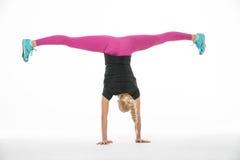 La séance d'entraînement de la fille de gymnaste Image stock