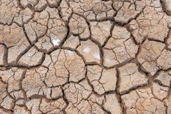 La sécheresse, la terre ne fend aucun manque d'eau chaude de dessus d'humidité photo stock