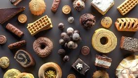La sélection de la nourriture haute en sucre 3d rendent l'illustration 3d illustration stock