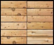 La sélection des planches en bois a isolé le noir images libres de droits