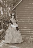 La sépia a modifié la tonalité le femme de guerre civile Images stock