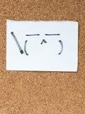 La série d'émoticônes japonaises a appelé Kaomoji, suffisant Image stock