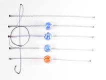 La série du diagramme de corde, Em7 Photos libres de droits