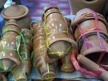 La série se compose d'un mortier de poterie et d'argile de pot de four d'argile image libre de droits