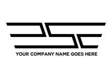 La S traversa il logo volando Fotografia Stock