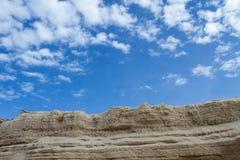 La sabbia che è sovrapposta Fotografia Stock