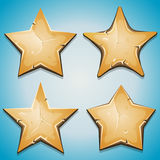 La sabbia Stars le icone per il gioco di Ui Fotografia Stock Libera da Diritti