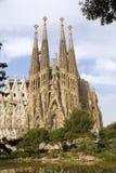 la sagrada för barcelona familiagaudi Arkivfoto