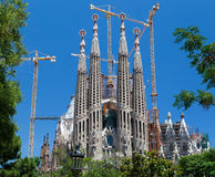 La Sagrada Famila Church Barcelona Spain Royalty Free Stock Photo
