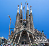 La Sagrada Famila Church Barcelona Spain Royalty Free Stock Photos