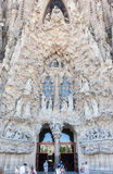 La Sagrada Famila Church Barcelona Spain Stock Image