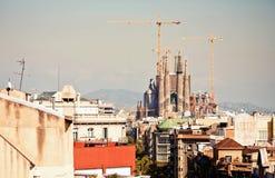 La Sagrada Familia在巴塞罗那,西班牙 免版税库存图片