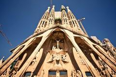 La Sagrada Familia在巴塞罗那,西班牙 库存图片