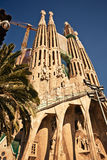 La Sagrada Familia在巴塞罗那,西班牙 免版税图库摄影