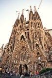 La Sagrada Familia在巴塞罗那,西班牙 库存照片