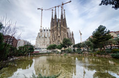 La Sagrada Familia à Barcelone Photos libres de droits
