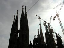La Sagrada Familia. The holy temple of la Sagrada Familia in Barcelona Stock Photography