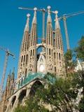 La sagrada familia. Cathedral. A masterpiece by spanish arquitect Antonio Gaudi Royalty Free Stock Photography
