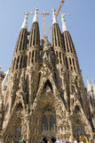 La Sagrada Familia in Barcelona. It is located in Barcelona (Spain) Catholic basilica, designed by Antoni Gaud Royalty Free Stock Photography