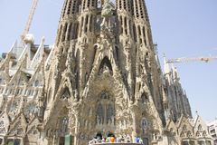 La Sagrada Familia in Barcelona. It is located in Barcelona (Spain) Catholic basilica, designed by Antoni Gaud stock photography