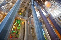La Sagrada Familia 2013. BARCELONA SPAIN – JUNE 13: La Sagrada Familia, the cathedral designed by Gaudi, which is being build since 19 March 1882 with the Stock Photography