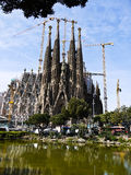 La Sagrada Familia (Barcelona) in Spain Stock Photos