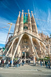 La  Sagrada Familia, Barcelona, Spain. BARCELONA, SPAIN - DECEMBER 14: La Sagrada Familia - the impressive cathedral designed by Gaudi, which is being build Stock Image