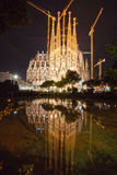 La  Sagrada Familia, Barcelona, Spain. BARCELONA, SPAIN - DECEMBER 14: La Sagrada Familia - the impressive cathedral designed by Gaudi, which is being build Stock Images