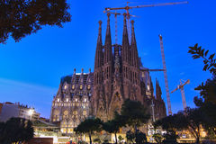 La Sagrada Familia, Barcelona, Spain. Stock Images