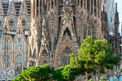 La  Sagrada Familia, Barcelona, Spain. La Sagrada Familia - the impressive cathedral designed by Gaudi, which is being build since 19 March 1882 and is not Stock Photos
