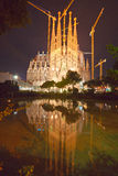 La Sagrada Familia, barcelona; Spain. BARCELONA, SPAIN - DECEMBER 14: La Sagrada Familia - the impressive cathedral designed by Gaudi, which is being build Royalty Free Stock Photography