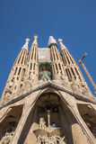La Sagrada Familia-Barcelona, Spain. BARCELONA, SPAIN - : La Sagrada Familia - the impressive cathedral designed by Gaudi, which is being build since 19 March Stock Image