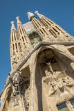 La Sagrada Familia-Barcelona, Spain. BARCELONA, SPAIN - : La Sagrada Familia - the impressive cathedral designed by Gaudi, which is being build since 19 March Stock Photography