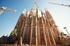 La Sagrada Familia in Barcelona, Spain. BARCELONA - OCTOBER 4: La Sagrada Familia on October 4, 2012 in Barcelona, Spain. La Sagrada Familia - the impressive Royalty Free Stock Photography