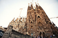 La Sagrada Familia in Barcelona, Spain Stock Image