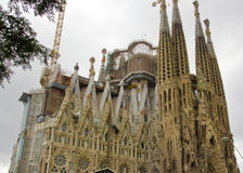 La sagrada familia in Barcelona,Spain Royalty Free Stock Photo