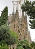 La sagrada familia in Barcelona. Spain royalty free stock images
