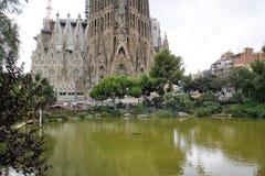 La sagrada familia in Barcelona. Spain royalty free stock image