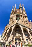 La Sagrada Familia in Barcelona, Spain. SPAIN - AUGUST 03: La Sagrada Familia - cathedral designed by Antoni Gaudi, which is being build since 1882 and is not Royalty Free Stock Image