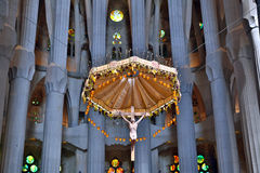 La Sagrada Familia in Barcelona, Spain. La Sagrada Familia - the cathedral designed by Gaudi, which is being build since 19 March 1882 and is not finished yet Stock Photography