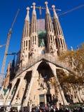 La Sagrada Familia. Barcelona, Spain - December 2011 : A large Roman Catholic church in Barcelona, Spain, designed by Catalan architect Antonio Gaudí, La Royalty Free Stock Images