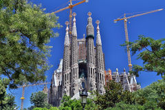 La Sagrada Familia in Barcelona, Spain Stock Photography